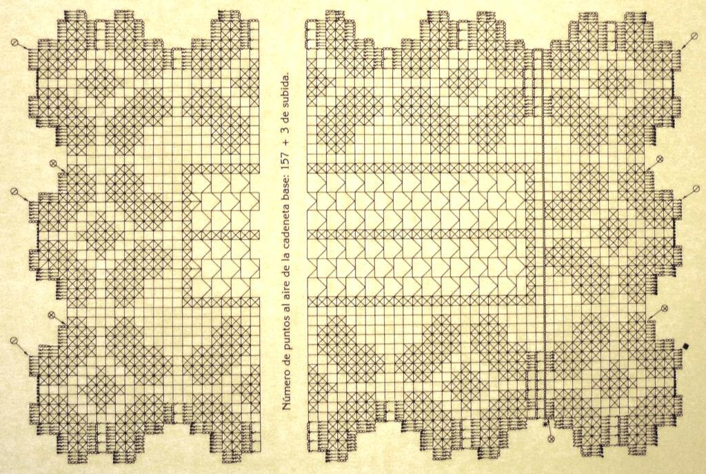 Вязание филейное дорожка 761