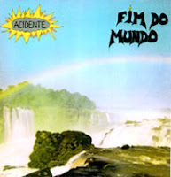 Second Acidente vinyl record cover Fim do Mundo, recorded in 1983 with 15 original songs