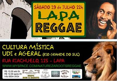 Show de reggae na Lapa