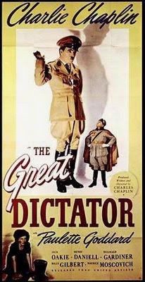 Cartaz original do filme O Grande Ditador, de Charles Chaplin