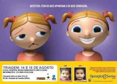 cartaz da Operação Sorriso