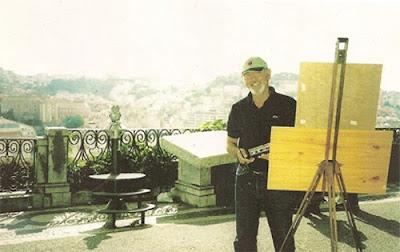 Clameli pinta Lisboa - Miradouro S. Pedro de Alcântara (Verao de 2004)