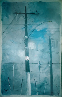 Poste, trabalho de Clameli, 180 x 120 cm, coleção Raimundo Macedo Soares