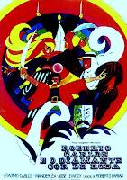 Cartaz do Filme Roberto Carlos e o Diamante Cor de Rosa, de Roberto Farias (1968) com Roberto, Erasmo e Wanderlea