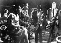 Billie canta com feras do Jazz para a TV CBS no programa Sounds of Jazz, em 1957