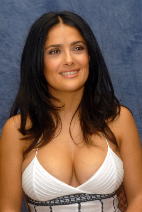 salma hayek breast