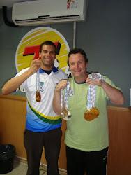 Andre Brasil e o craque Neto