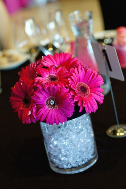 Hot Pink Centerpieces : Fantasia blooms lisa and scott s hot pink wedding at