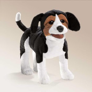beagle puppy puppet dog