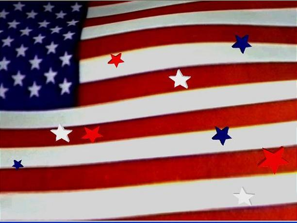 Waving American Flag Graphics Stars
