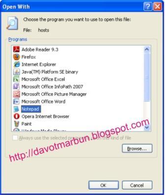 """Pilih """" Notepad """" klik 2 kali pada file tersebut dan akan keluar ..."""