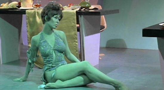 green woman on star trek