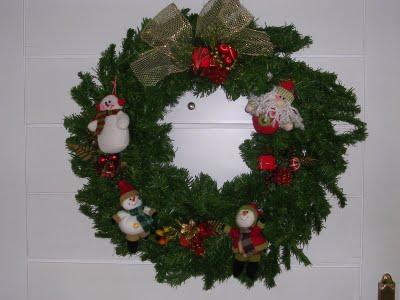 C mo hacer una corona navide a manualidades - Como hacer coronas de navidad ...