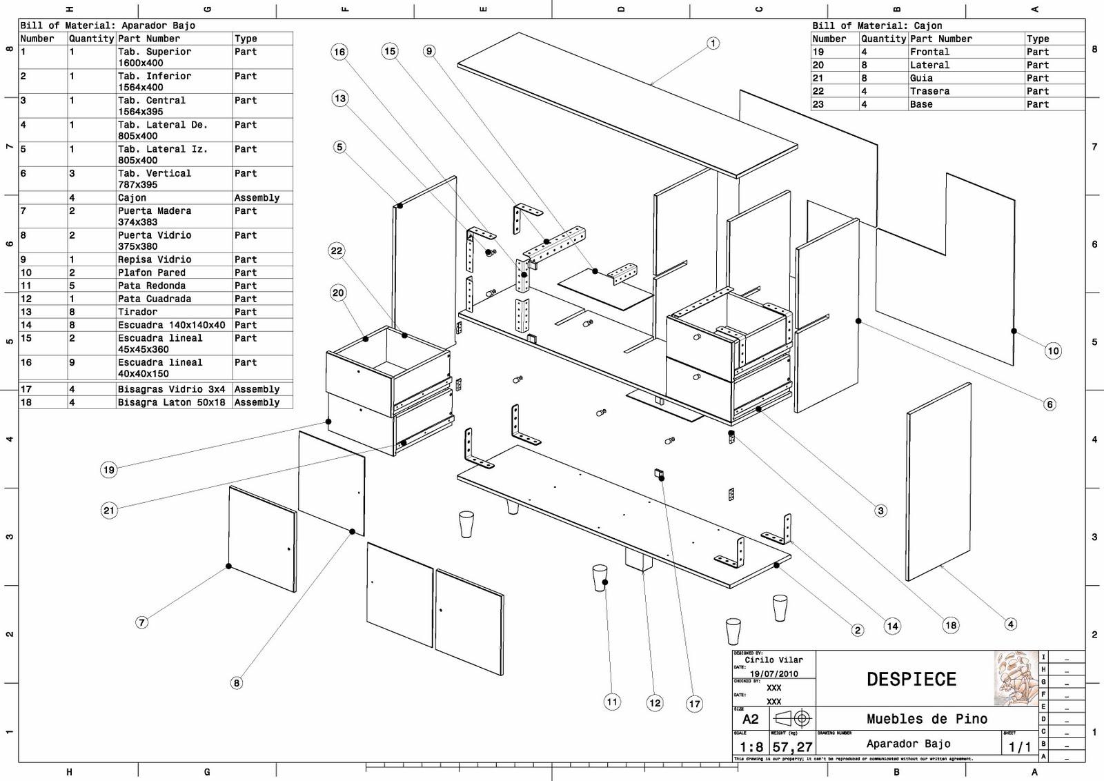 Haciendo muebles for Muebles de cocina planos pdf
