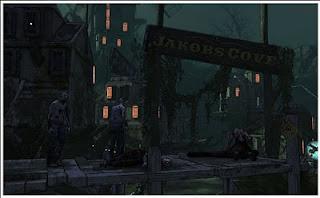 image du jeu borderlands montrant un niveau de l'extension l'île des zombies