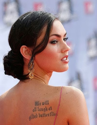 Megan Fox Gilded Butterflies Tattoo Quote Ideas
