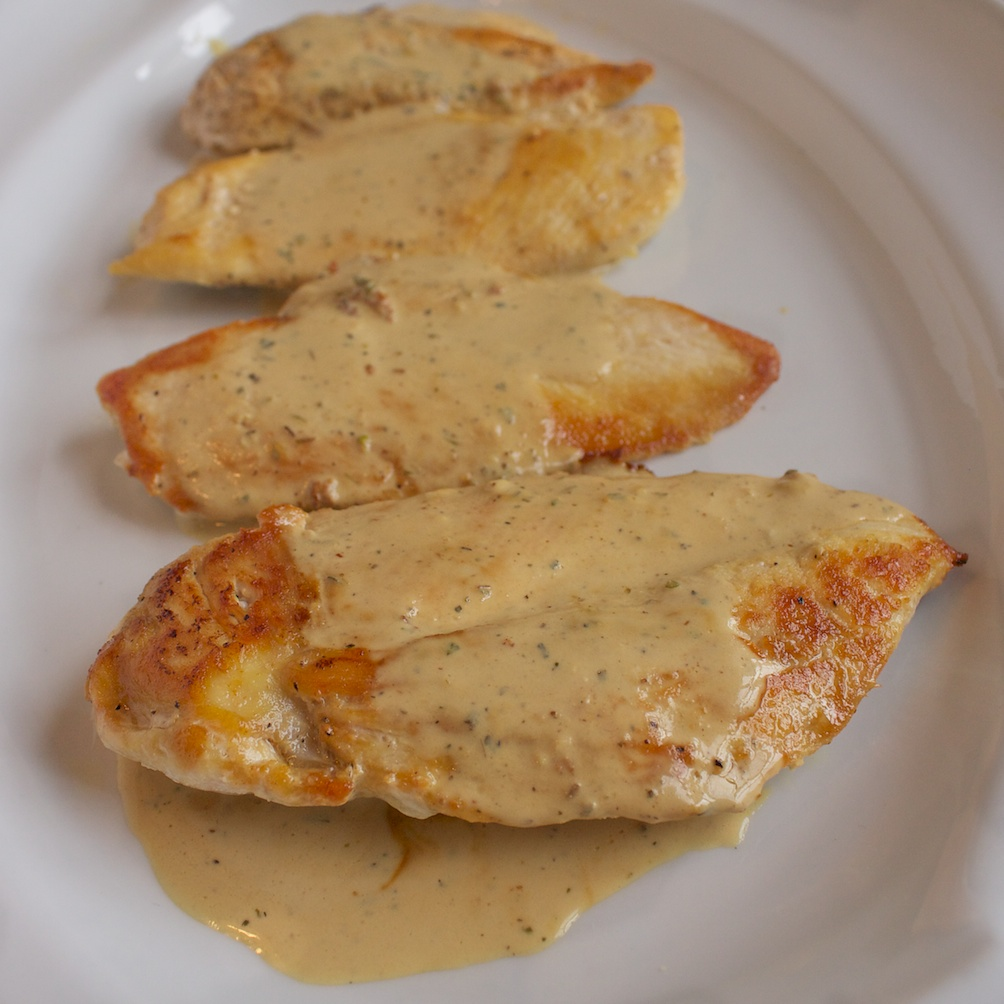 Chicken with Creamy Mustard Sauce | Our Family Eats