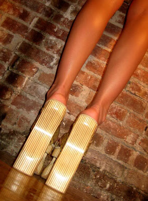 sexy girl wearing platform heels