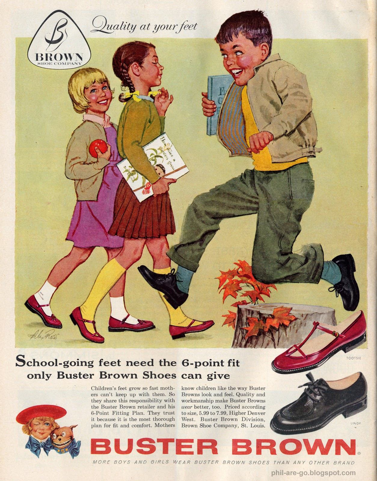 Phil Are Go!: Buster Brown - Shoes for big boys.