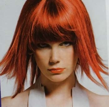Ashlee Simpson's red hair color is a huge hair color trend in 2009