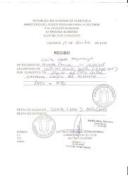 RECIBO DEL CIRCULO MILITAR