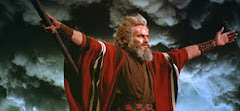 "Charlton Heston as ""Moses"" in the epic ""Ten Commandments"""