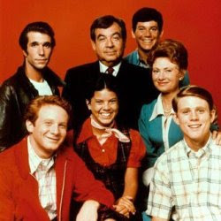 "Tom Bosley (center top) kept everyone ""Happy""!"