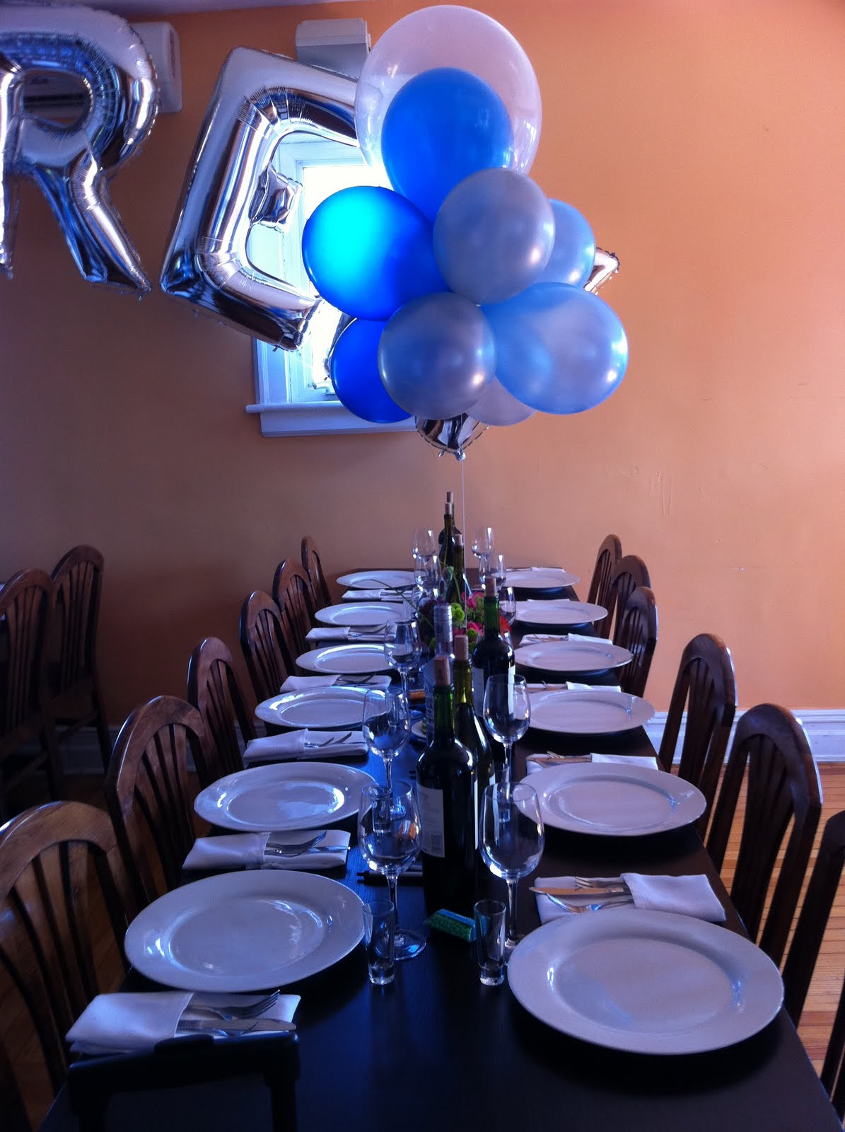 Party planning at your liking bar mitzvah luncheon for Silver cloud balloons