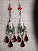SILVER RUBY MOON DROPS