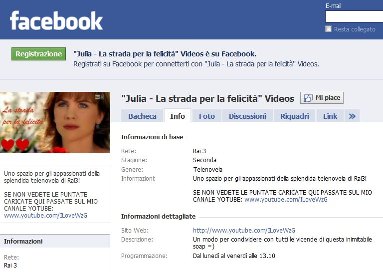 Julia Videos su Facebook!