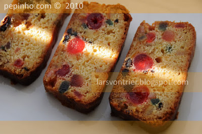 Cake de frutas confitadas