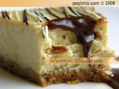 Tarta de queso, chocolate blanco y crema de güisqui