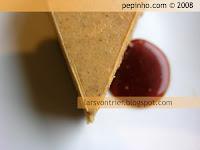 Tarta de queso y calabaza con salsa de caramelo a la naranja