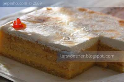 Tarta de naranja y bizcocho almendra