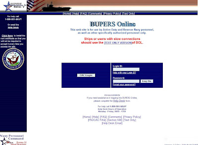Bupers Online | Login at Bol.navy.mil