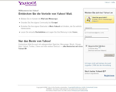 German Yahoo Mail Login, Yahoo Germany Email Service