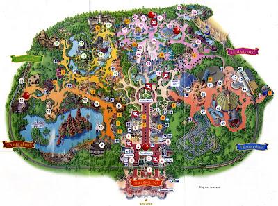 Disneyland ride map - Disneyland Park Map