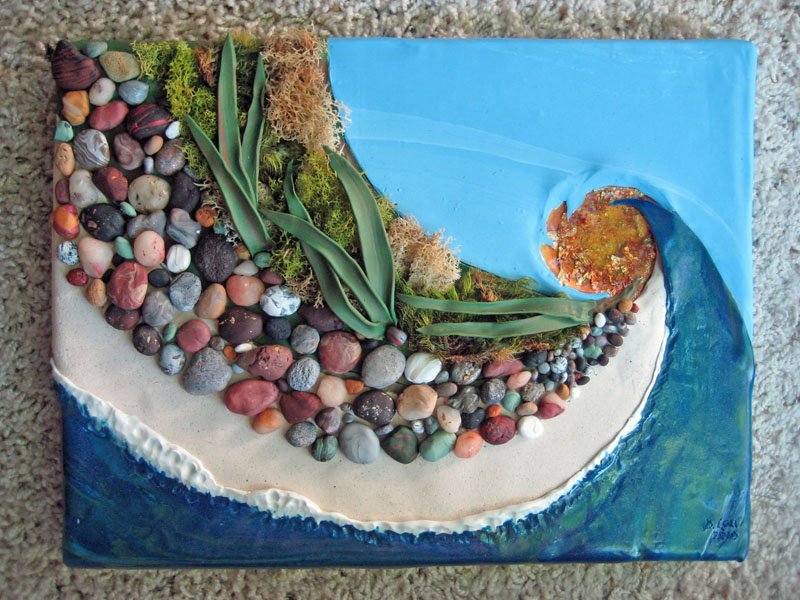 Diana laurence painting with clay creation for Clay mural making