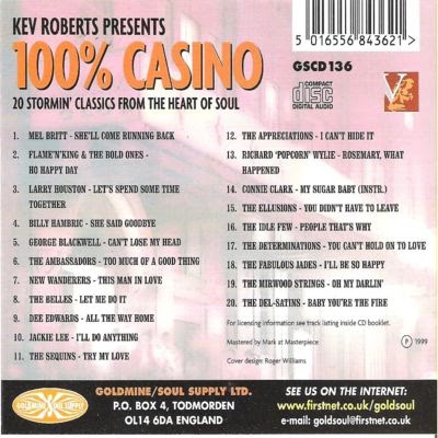 KEV ROBERTS PRESENTS 100% CASINO 2