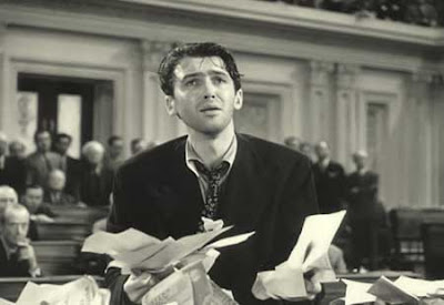 Jimmy Stewart as Mr Smith, filibustering