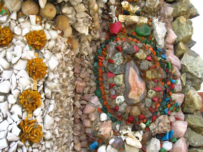Colorful stones embedded