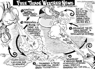 Free Trade Weather News cartoon