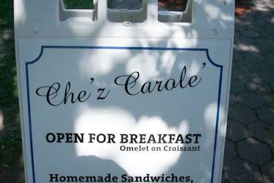 Che'z Carole' open for breakfast