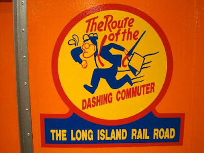 Long Island Railroad graphic The Route of the Dashing Commuter