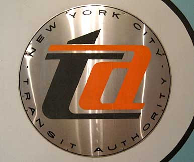 New York Transit Authority logo on a sign