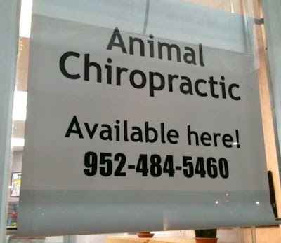 Animal Chiropractic sign