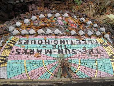 Mosaic tile sundial