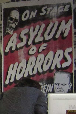 Printed poster for the Asylum of Horror