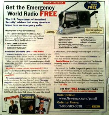 Newsmax free radio ad from Parade magazine