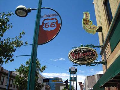 Route 66 commemorative sign in Albuquerque